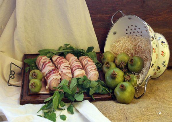 wurstel arrotolati con pancetta