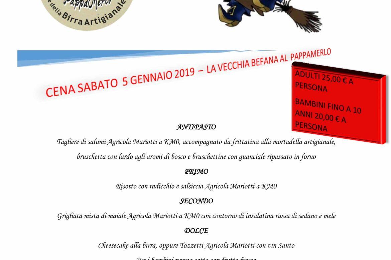 cena befana 2019 al PappaMerlo