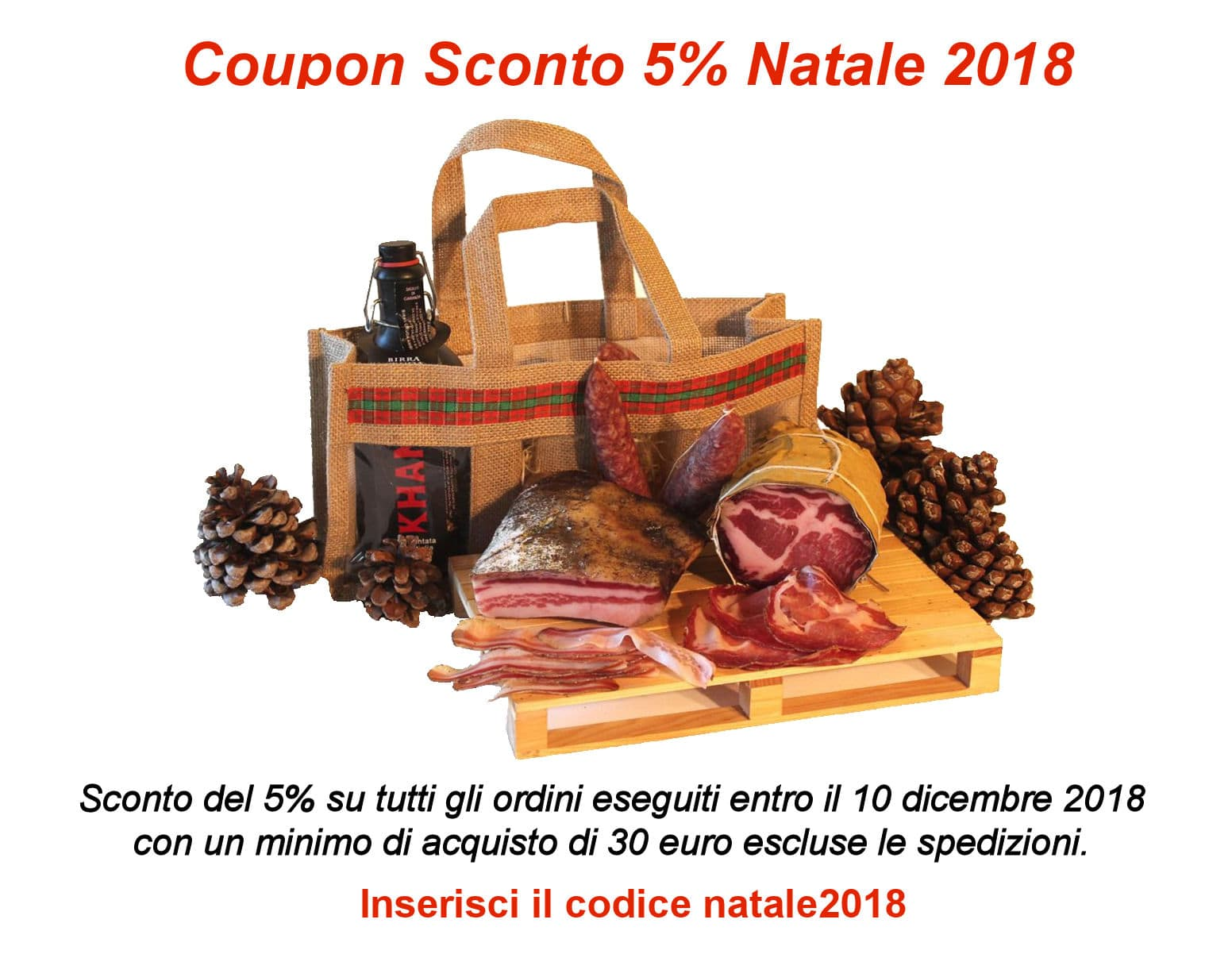 coupon natale 2018